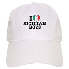 I Love Sicilian Boys Baseball Cap