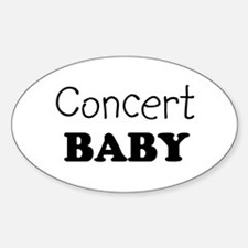 Concert baby Oval Decal