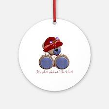 RedHat TeddyBear Ornament (Round)