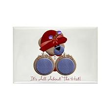 RedHat TeddyBear Rectangle Magnet
