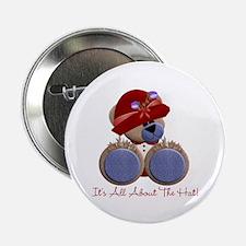 """RedHat TeddyBear 2.25"""" Button"""