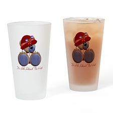 RedHat TeddyBear Drinking Glass