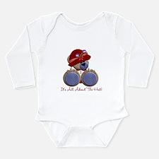 RedHat TeddyBear Long Sleeve Infant Bodysuit