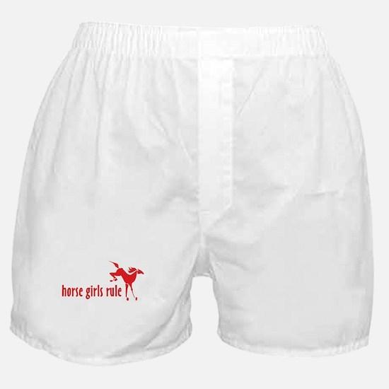 horse girls rule Boxer Shorts