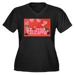 Valentine's Day #7 Women's Plus Size V-Neck Dark T