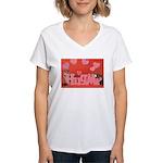 Valentine's Day #7 Women's V-Neck T-Shirt