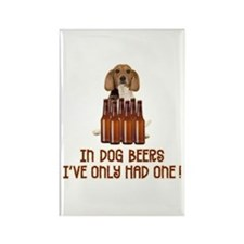 In Dog Beers ... Rectangle Magnet
