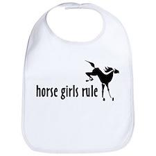 horse girls rule Bib