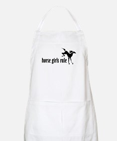 horse girls rule BBQ Apron
