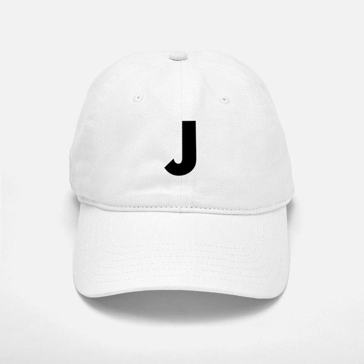 Letter J Baseball Baseball Cap