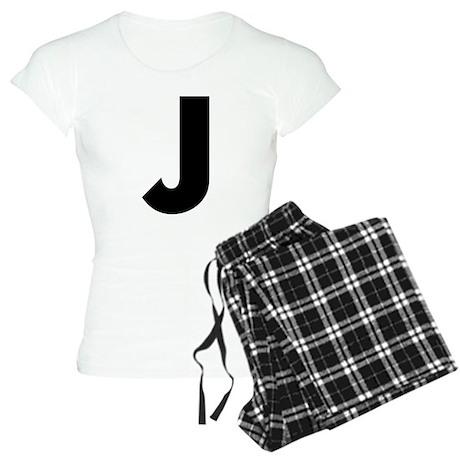 Letter J Women's Light Pajamas
