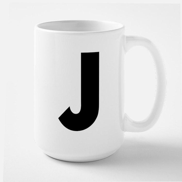 Letter J Large Mug