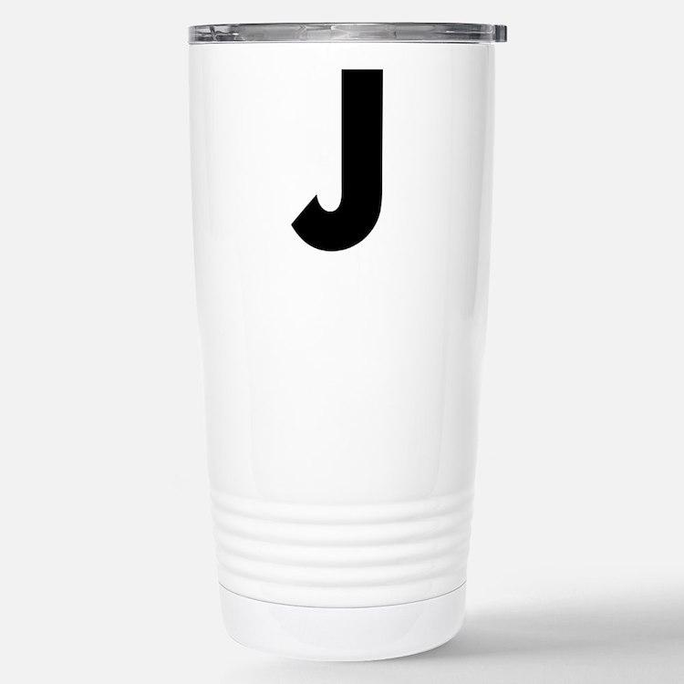 Letter J Stainless Steel Travel Mug