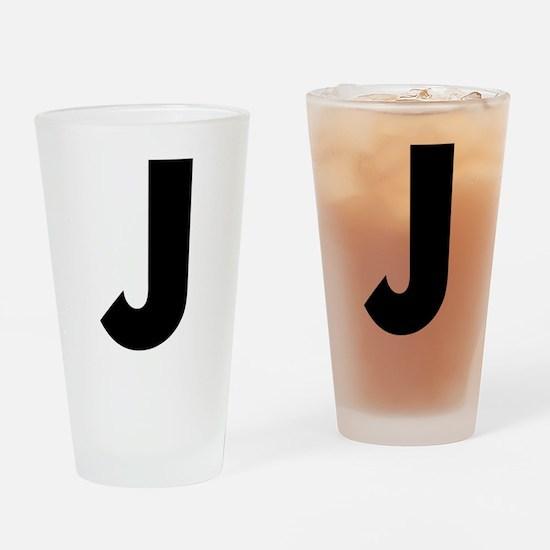 Letter J Drinking Glass