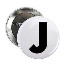 "Letter J 2.25"" Button (10 pack)"