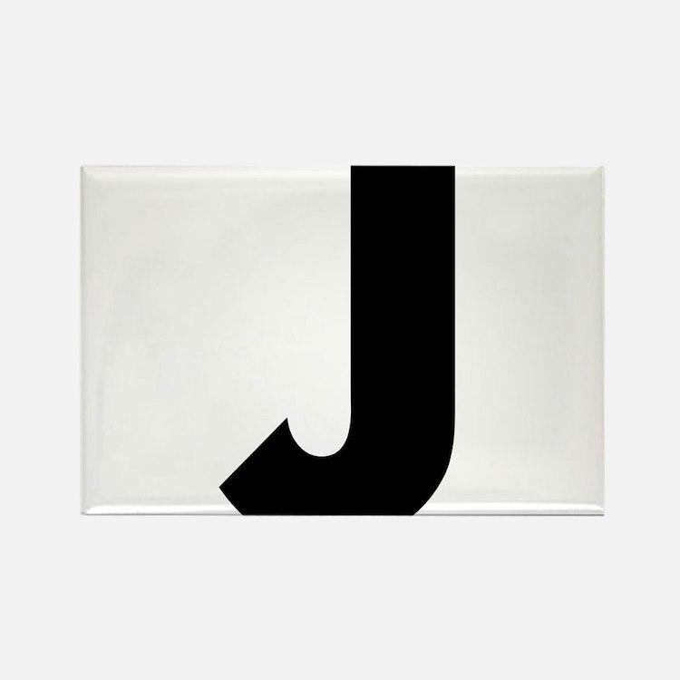 Letter J Rectangle Magnet
