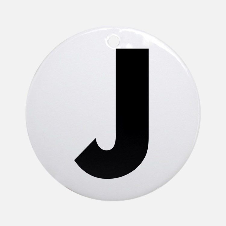Letter J Ornament (Round)