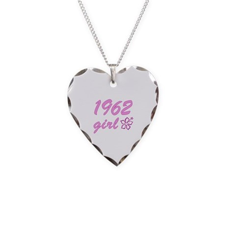 1962 Girl Necklace Heart Charm