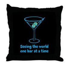 World is my Olive Throw Pillow