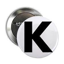 """Letter K 2.25"""" Button"""