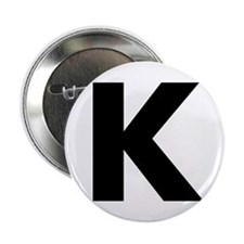 "Letter K 2.25"" Button (10 pack)"