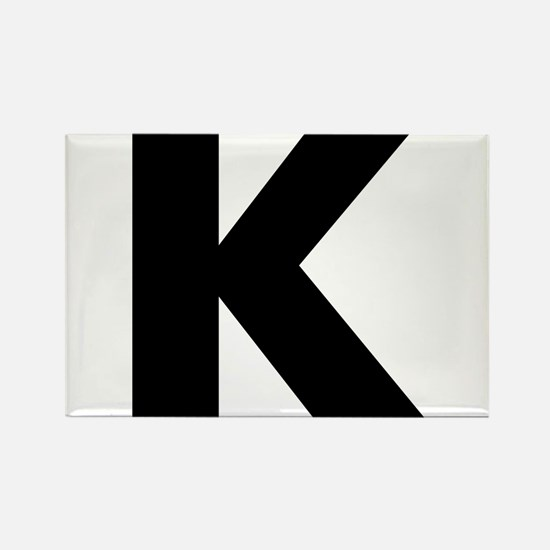 Letter K Rectangle Magnet