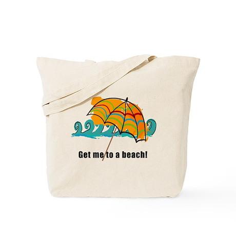 get me to a beach Tote Bag