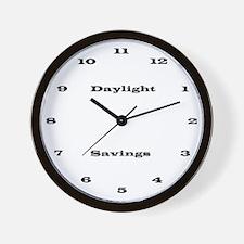 Daylight Savings Time Wall Clock