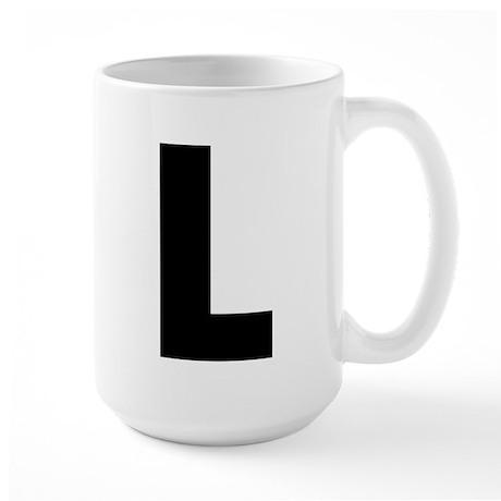 Letter L Large Mug