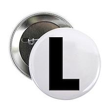 """Letter L 2.25"""" Button"""