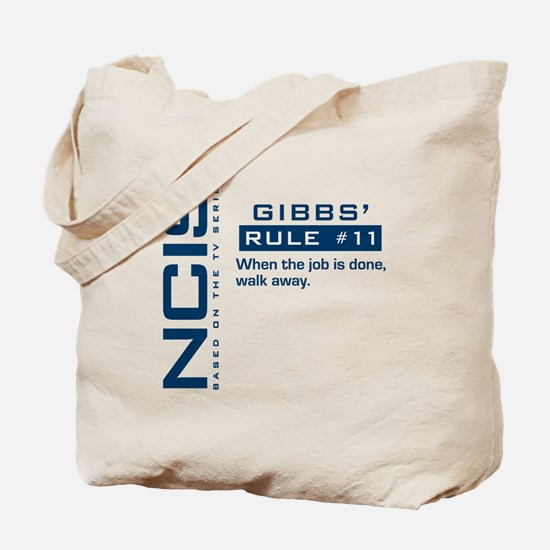 NCIS Gibbs' Rule #11 Tote Bag