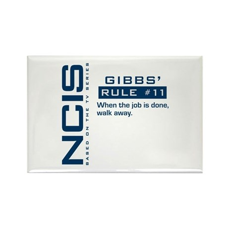 NCIS Gibbs' Rule #11 Rectangle Magnet