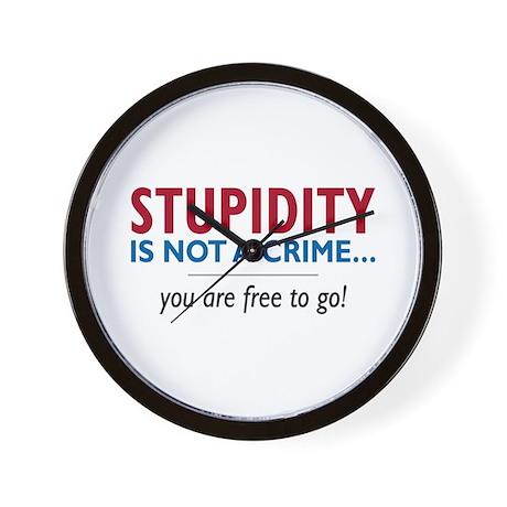 Stupidity - Wall Clock
