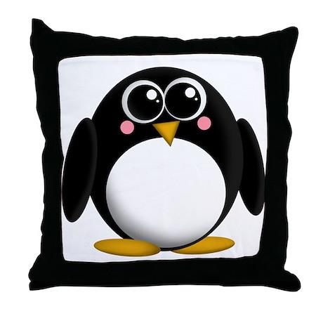 Adorable Penguin Throw Pillow