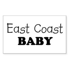 East Coast baby Rectangle Decal