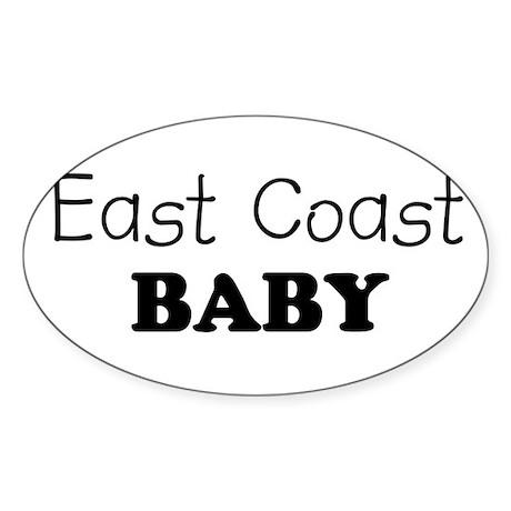East Coast baby Oval Sticker