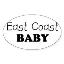 East Coast baby Oval Stickers