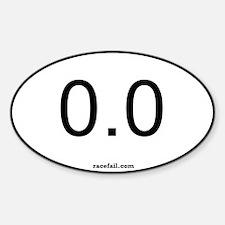 0.0 Oval Sticker 3x5