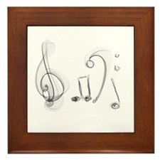 Music Design Framed Tile