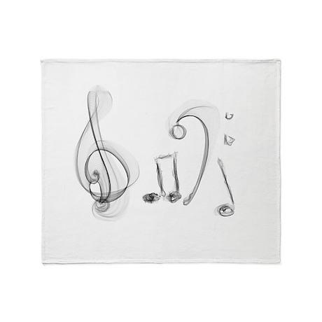Music Design Throw Blanket