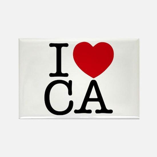 I Heart California Rectangle Magnet