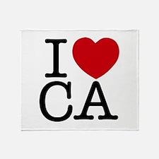I Heart California Throw Blanket