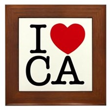 I Heart California Framed Tile