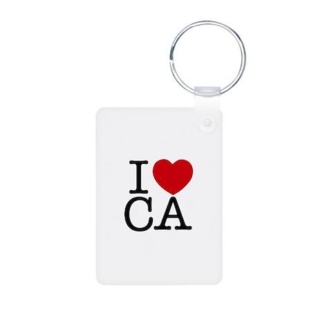 I Heart California Aluminum Photo Keychain