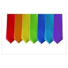 RAINBOW NECKTIES Framed Print