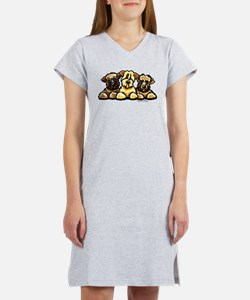 Wheaten Terrier Cartoon Women's Nightshirt