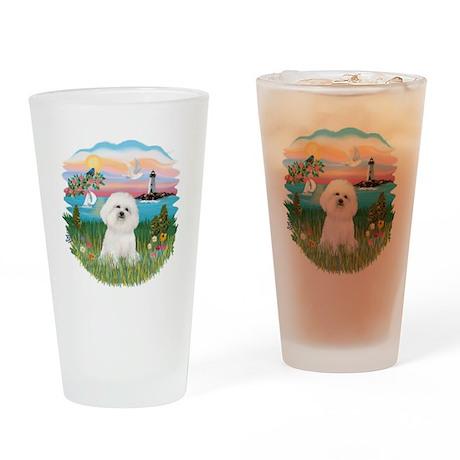 Lighthouse - Bichon#1 Drinking Glass