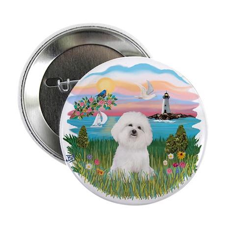"Lighthouse - Bichon#1 2.25"" Button (10 pack)"