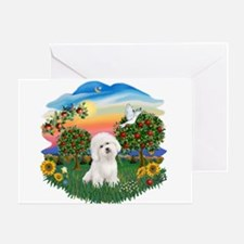 BrightCountry-Bichon#1 Greeting Card