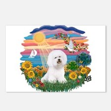Autumn Sun-Bichon1 Postcards (Package of 8)